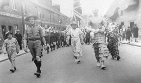 1940s Eynsham Parade in Arce End Street